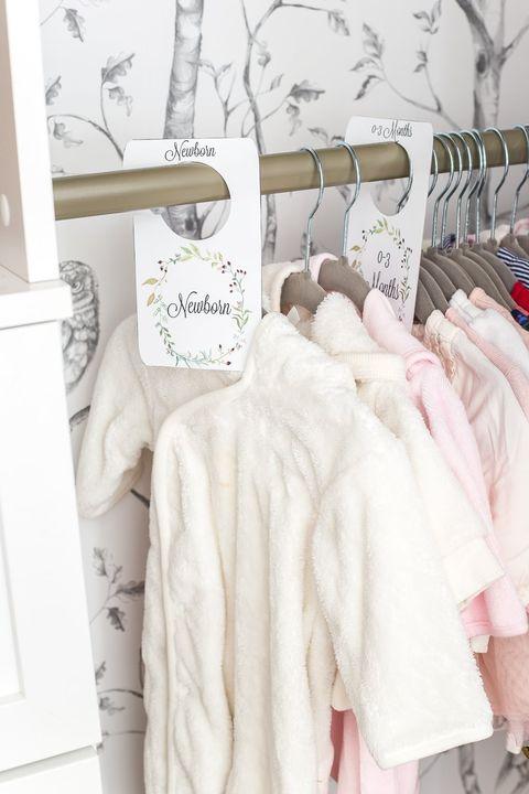 closet organization ideas - baby closet dividers