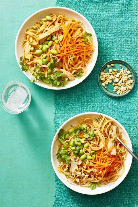 rotisserie chicken recipes - peanut noodles with chicken