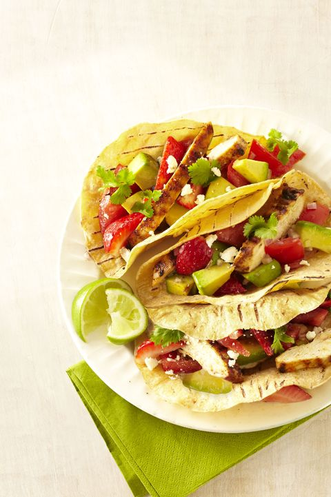 Grilled-Chicken Tacos with Strawberry Salsa - Cinco de Mayo Recipes