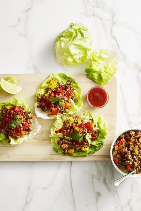savory thai turkey lettuce wraps