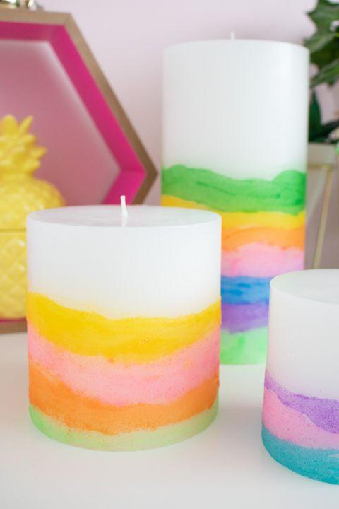 sand art candles   summer crafts