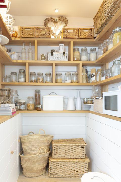 pantry organization ideas - jars