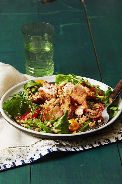 what is farro   farro and arugula salad with mustard dressing